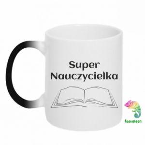 Kubek-kameleon Super nauczycielka