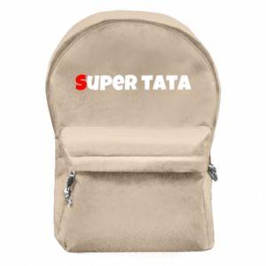 Plecak z przednią kieszenią Super tata.