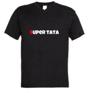 Męska koszulka V-neck Super tata.