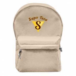 Plecak z przednią kieszenią S - Super tata