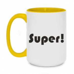 Two-toned mug 450ml Super!