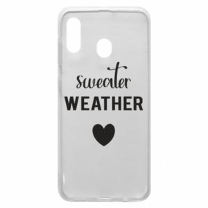 Etui na Samsung A20 Sweater weather
