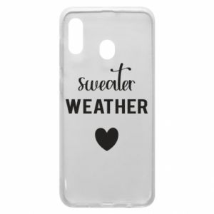 Etui na Samsung A30 Sweater weather