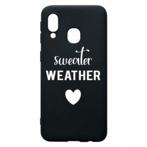 Etui na Samsung A40 Sweater weather