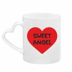 Kubek z uchwytem w kształcie serca Sweet angel