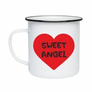 Kubek emaliowany Sweet angel