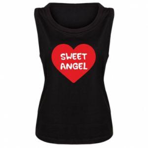 Damska koszulka bez rękawów Sweet angel
