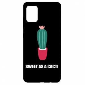 Etui na Samsung A51 Sweet as a cacti wih flower