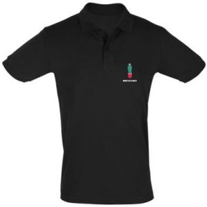 Men's Polo shirt Sweet as a cacti wih flower
