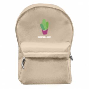 Backpack with front pocket Sweet as a cacti