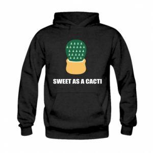 Bluza z kapturem dziecięca Sweet as a round cacti