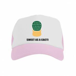 Czapka trucker dziecięca Sweet as a round cacti