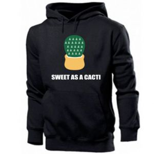 Męska bluza z kapturem Sweet as a round cacti