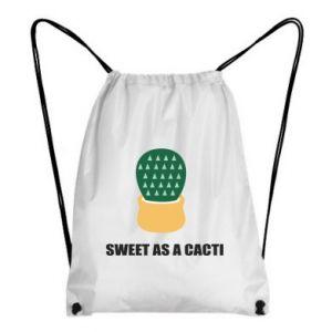 Plecak-worek Sweet as a round cacti