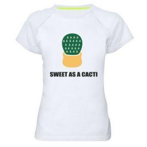 Koszulka sportowa damska Sweet as a round cacti