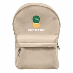 Plecak z przednią kieszenią Sweet as a round cacti