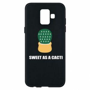 Etui na Samsung A6 2018 Sweet as a round cacti