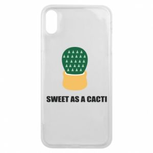 Etui na iPhone Xs Max Sweet as a round cacti