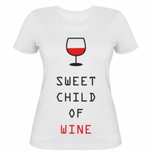 Damska koszulka Sweet child of wine