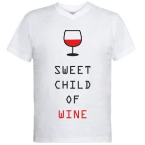 Men's V-neck t-shirt Sweet child of wine