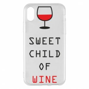 Etui na iPhone X/Xs Sweet child of wine