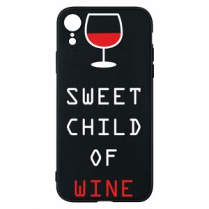 Etui na iPhone XR Sweet child of wine