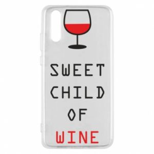 Etui na Huawei P20 Sweet child of wine