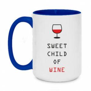 Two-toned mug 450ml Sweet child of wine