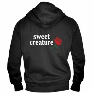 Męska bluza z kapturem na zamek Sweet creature