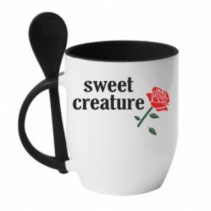 Kubek z ceramiczną łyżeczką Sweet creature