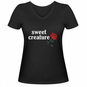 Damska koszulka V-neck Sweet creature