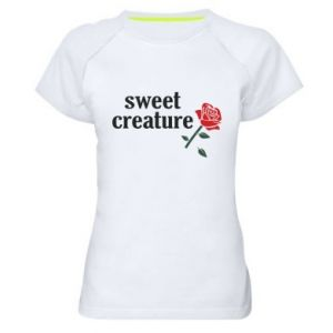 Women's sports t-shirt Sweet creature