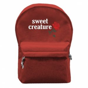 Backpack with front pocket Sweet creature