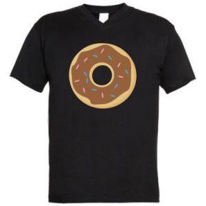 Męska koszulka V-neck Sweet donut