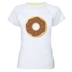 Women's sports t-shirt Sweet donut