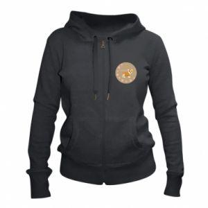 Women's zip up hoodies Sweetie dog - PrintSalon