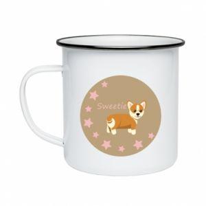 Enameled mug Sweetie dog - PrintSalon