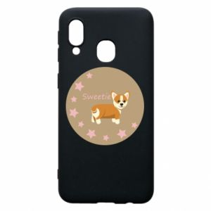 Phone case for Samsung A40 Sweetie dog