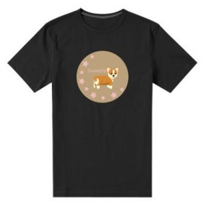 Men's premium t-shirt Sweetie dog