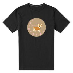Męska premium koszulka Sweetie dog - PrintSalon