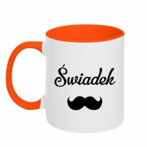 Two-toned mug Wedding witness - PrintSalon