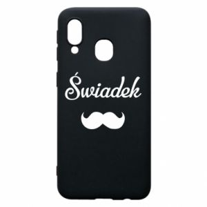 Phone case for Samsung A40 Wedding witness - PrintSalon