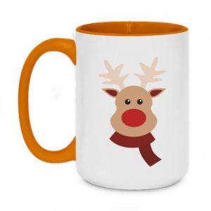 Two-toned mug 450ml Christmas moose