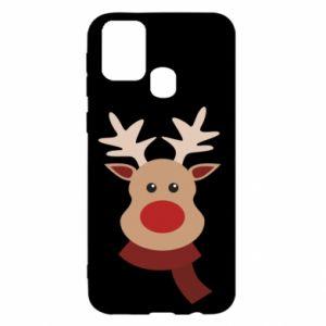 Samsung M31 Case Christmas moose
