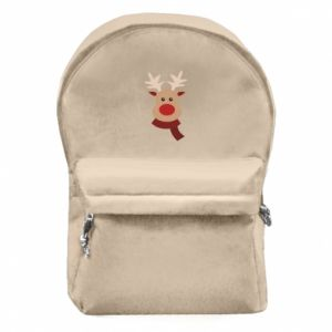 Backpack with front pocket Christmas moose