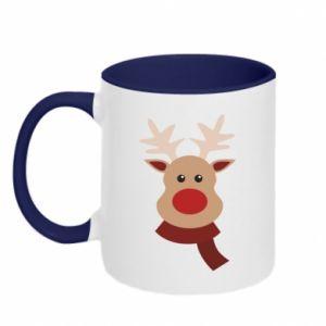 Two-toned mug Christmas moose