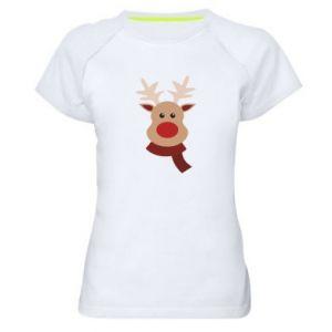 Women's sports t-shirt Christmas moose