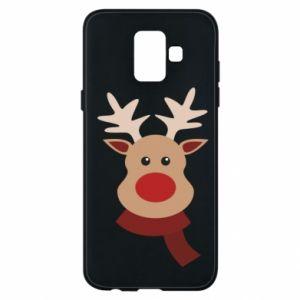 Samsung A6 2018 Case Christmas moose