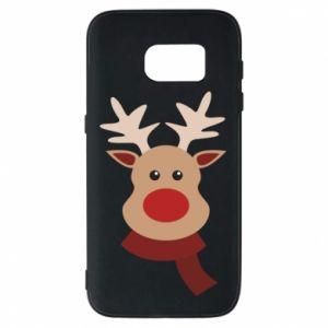 Samsung S7 Case Christmas moose