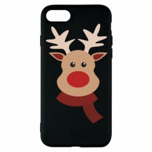 Phone case for iPhone 8 Christmas moose